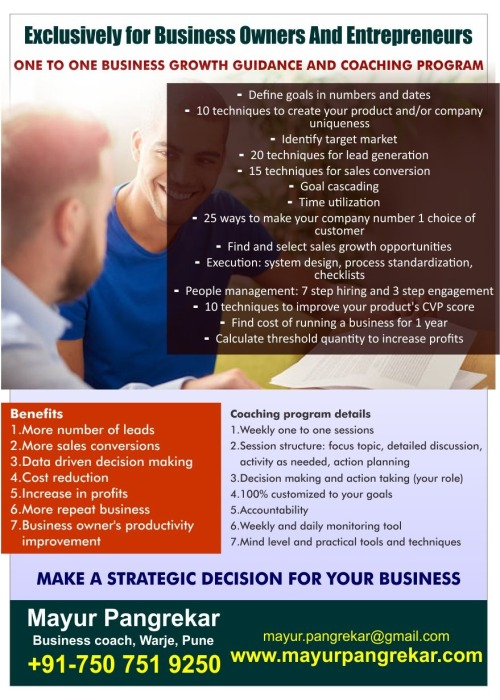 5-Business growth coaching flyer