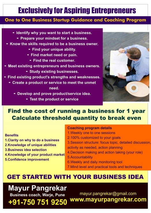 6-Business startup coaching flyer